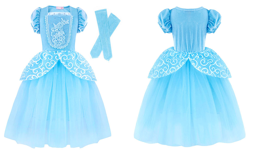 Dresses for Girls Costume Dress Princess Birthday Party Cosplay Outfits Tutu A+HG022-1