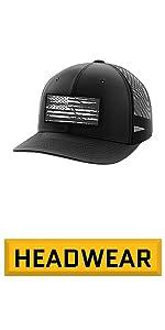 American Flag Snapback Hat. Flexfit Black Cap for Men & Women. Flexfit
