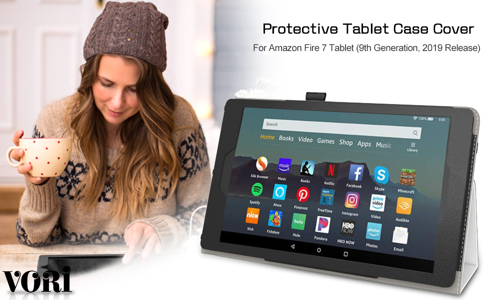 Case for Kindle fire 7 Tablet (9th Generation, 2019 Release
