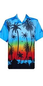 Palm Tree Printed Hawaiian Shirt