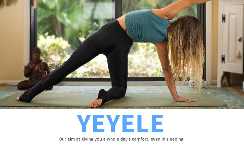 Logo of YEYELE yoga shorts for women