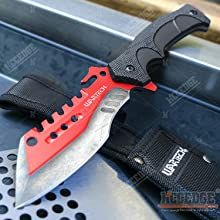 """8.25"""" Tactical Cleaver w/ Wood Handle"""