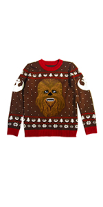 Star Wars Chewbacca Ugly Christmas Sweater Chewie Wookiee Galactic