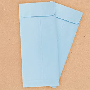 baby blue #10 policy envelope