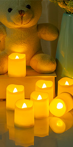battery votive candles
