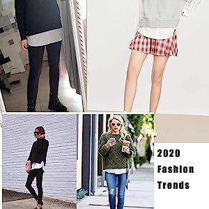 Longwu Women's Fake Hemline 2 Pieces Adjustable Layered Fake Top Lower Sweep,Skirt Extenders