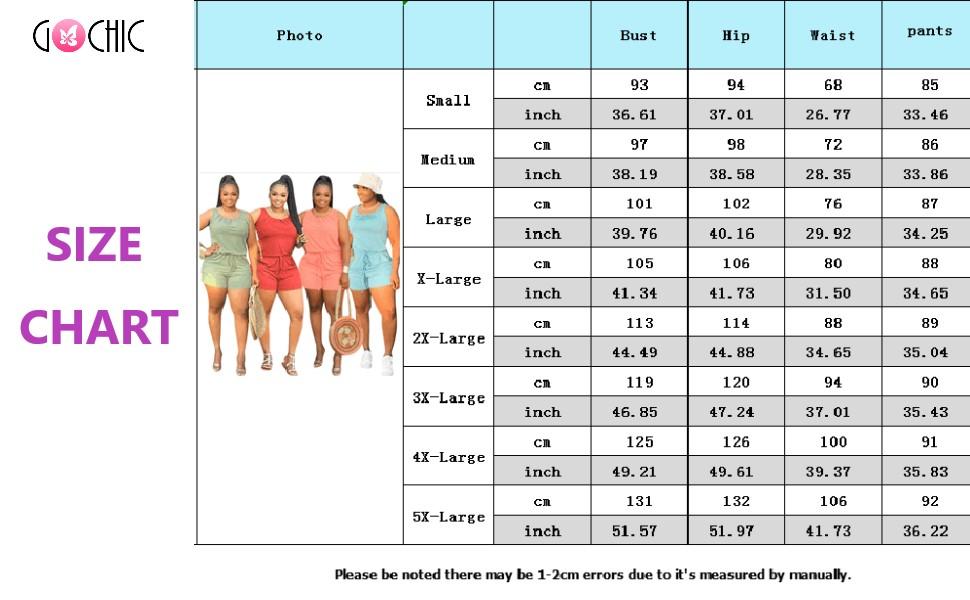 plus size jumpsuits romper size chart