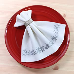 Bathroom paper towels decorative napkins dinner paper napkins for wedding reception guest towels