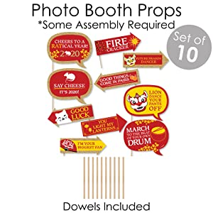 Chinese New Year Photo Booth Props
