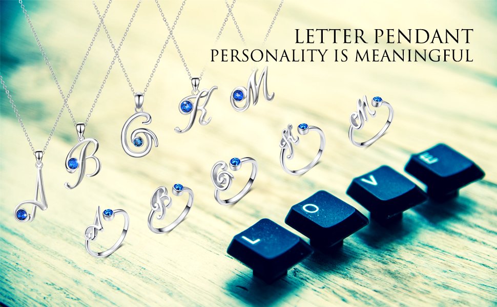 INITIAL LETTER NECKLACE & RING
