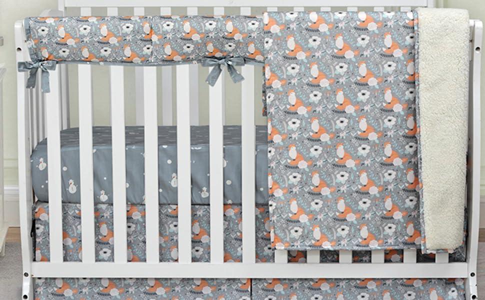 fox crib bedding sets
