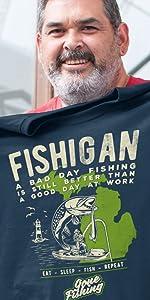 Detroit t-shirt apparel clothing brand company Fishigan