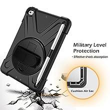 KIQ Shield case heavy duty military grade for ipad mini 4th 5th Gen