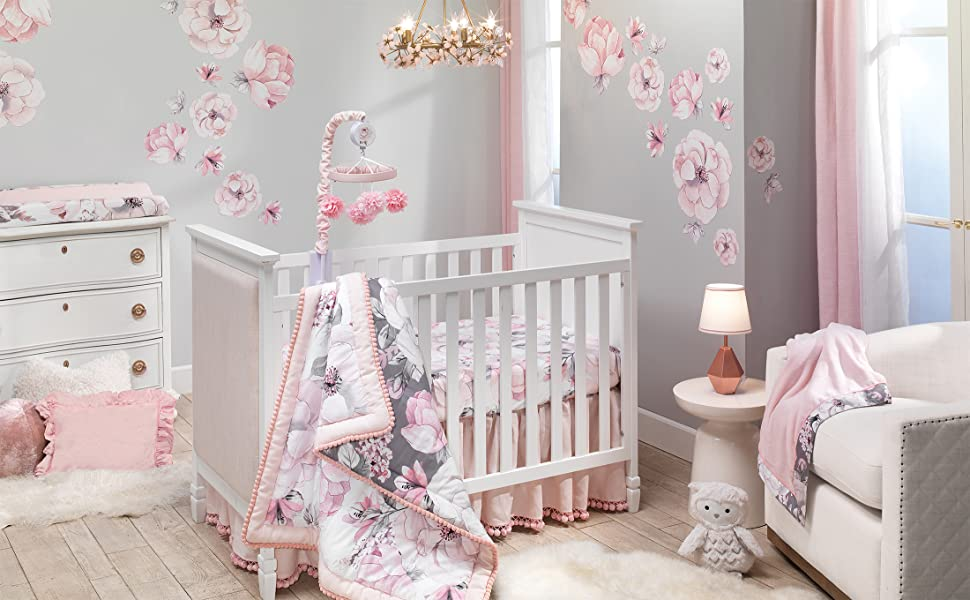 Botanical Baby Nursery with Crib Bedding Set