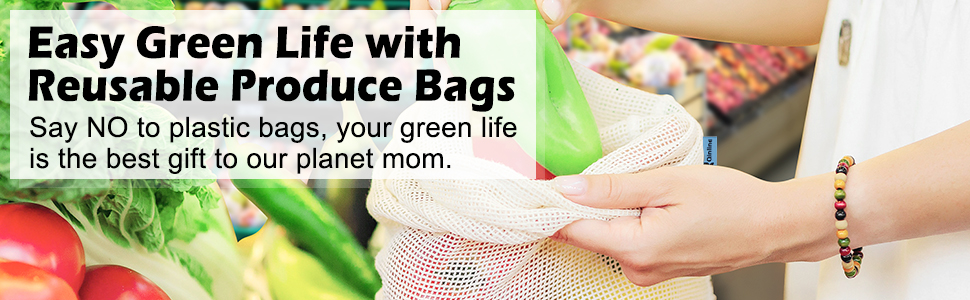 Easy Green Life with Reusable Produce Bags