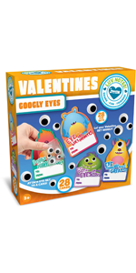 28 Pack Valentines Day Gifts  with Stick-On Monster Googly Google Eyes