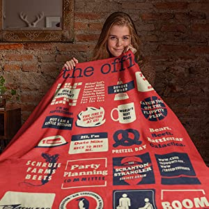 the office merchandise merch gifts blanket sherpa gifts for fans