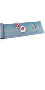 PVC Table Runner Heat Resistant Non Slip Dining Table Runner for Kitchen Table