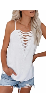 lace up cami top