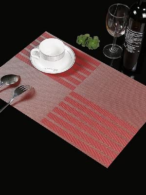 red place mats