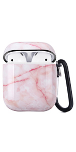 airpods case pink marble