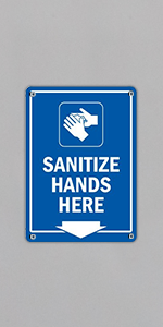 Sanitize Hands Here