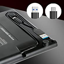ROOFULL External CD/DVD RW drive with USB 3.0 & USB-C two connectors