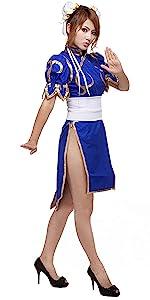 chun li chung li cosplay costume halloween anime mortal kombat