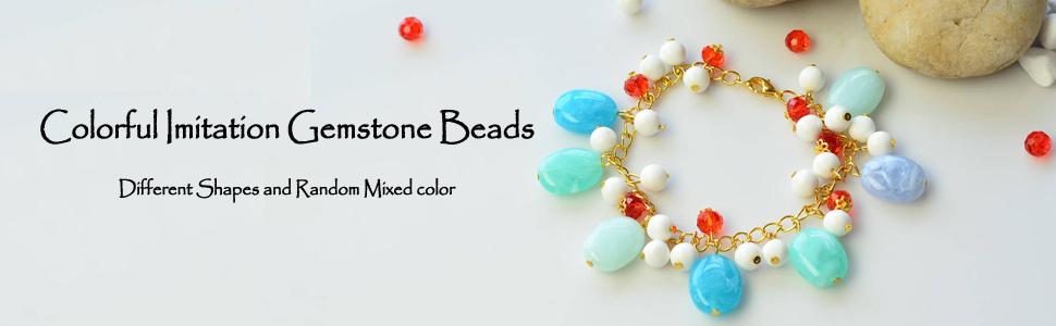 Mixed Colors Imitation Gemstone Acrylic Rhombus Spacer Beads Colorful Plastic Geometric Loose Beads