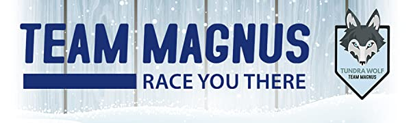 Team Magnus race you there tundra wolf winter theme banner