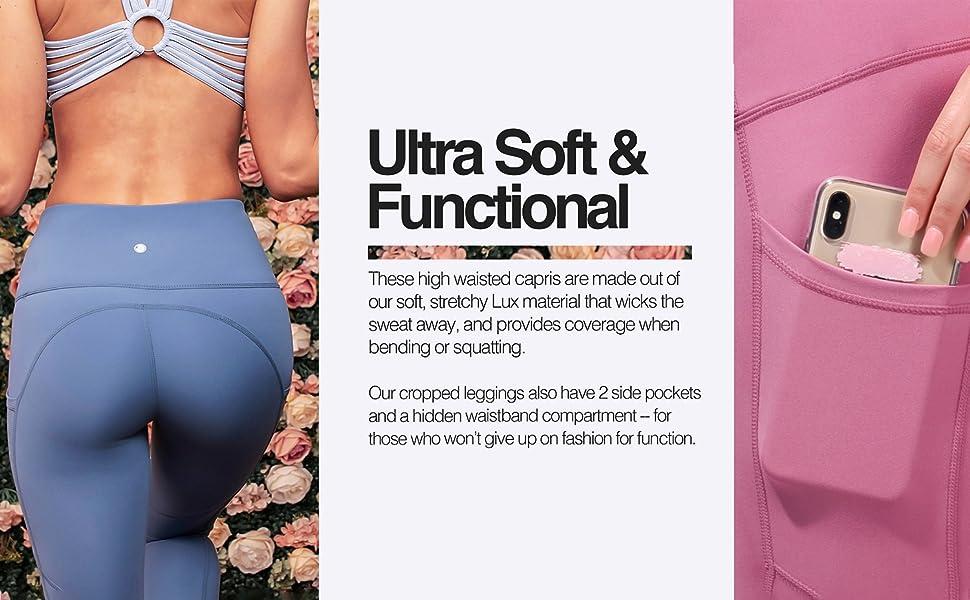 yoga capri pants for women, womens exercise clothes, workout capris, running capris for women