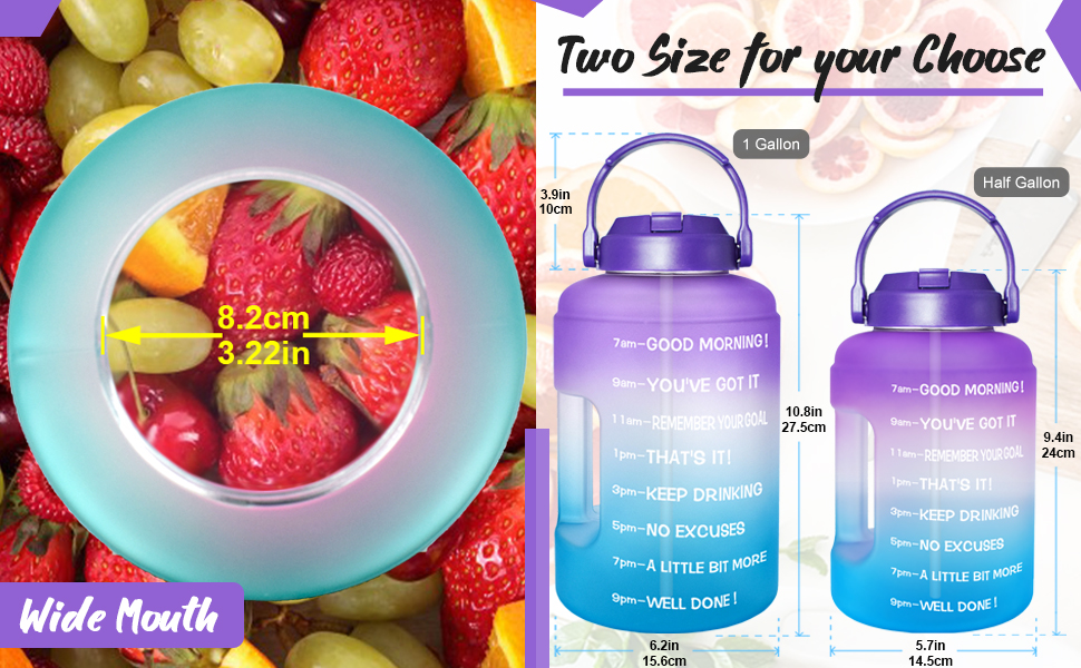 water bottles with times to drink