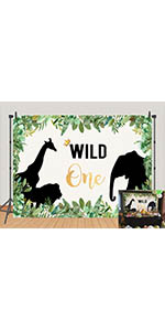 The Wild Things One Photography Backdrops Animals Elephant Lion Photo Background