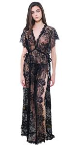 Women's Side Split Lace Gown