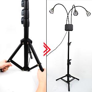 Adjustable tripod