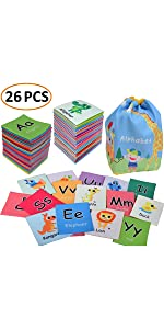 mamma kiddie baby infant toddler cloth fabric book quiet book educational learning toy cards set