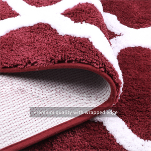 "Pauwer bath rug measures 18""x26""+18""x47"" , an ideal size for any bathroom."