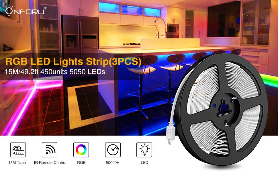 15m RGB strip light