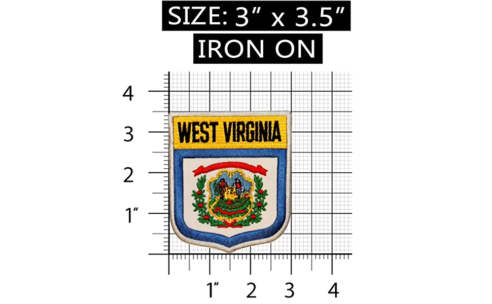State Flag Shield West Virginia