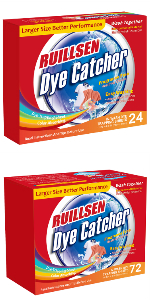 RUILLSEN Dye Trapping Sheets, Laundry Fragrance Free Color Catcher Collector In-Wash 72X2 Count