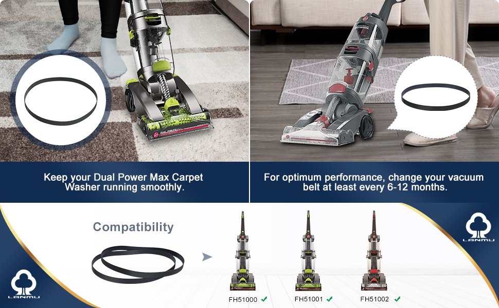 Replacement Belts for Hoover Dual Power Max Carpet Cleaner