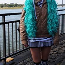 Black Knee High Striped Socks Cosplay Manga Japan Convention Comic