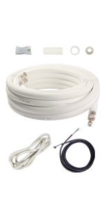 line set cover mini split air conditioner pipe insulation refrigerant HVAC lineset minisplit ac