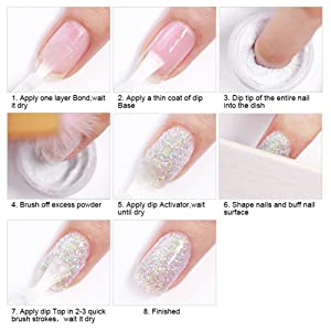 Dipping Nail Powder Nail Starter Kit French Dip Acrylic Nails Powders System Liquid Nude Colors