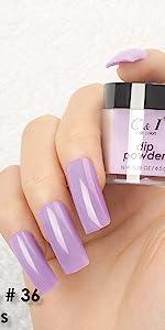 dip powder, dipping powder, purple, lavender
