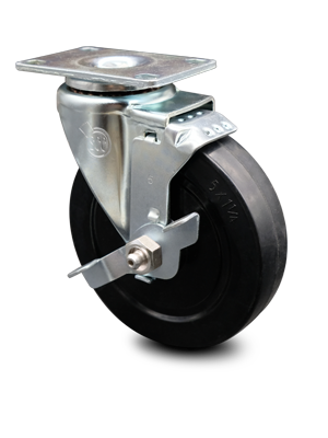 Series 20 Light Duty Soft Rubber Wheel Casters