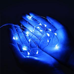 blue battery fairy lights