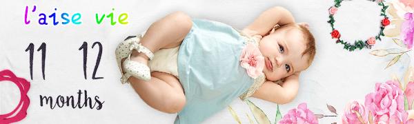 Baby Monthly Milestone Blanket Boy