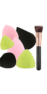 Foundation Brush with Makeup Sponge