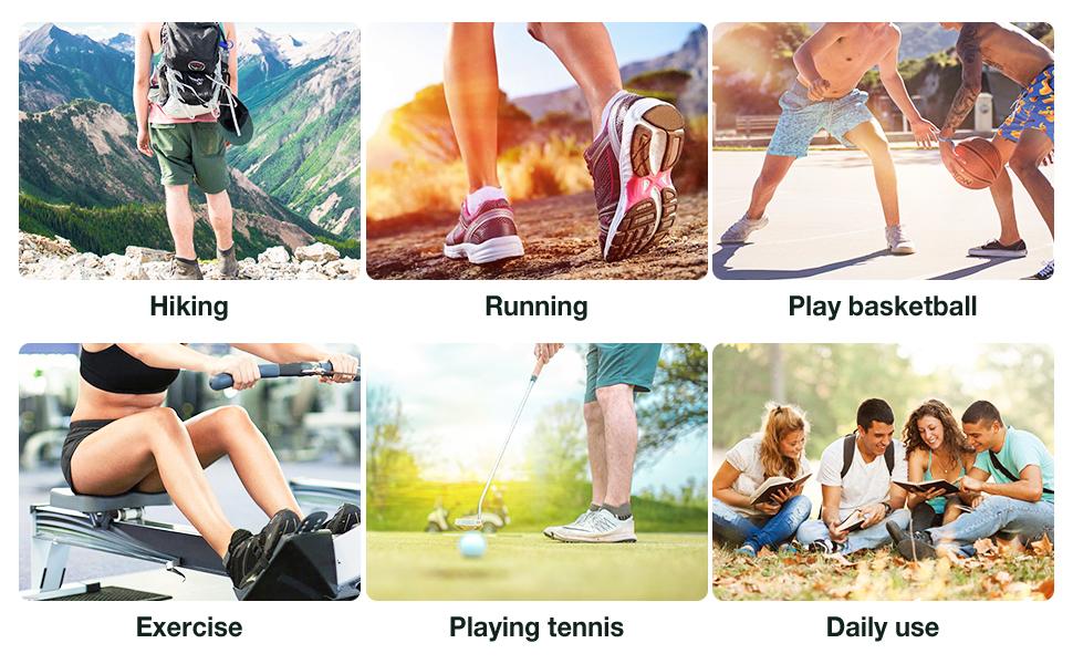 athletic hiking running socks women men